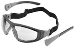 Elvex Go-Specs II Safety Glasses/Goggles with Black Frame, Foam Seal and Clear Anti-Fog Lens