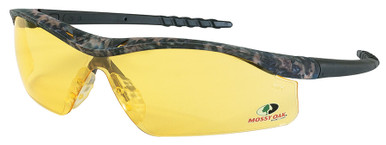 Crews Dallas Safety Glasses with Mossy Oak Camo Frame and Amber Lens