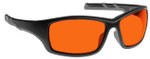 NoIR Deluxe Nighttime Eyewear with Black Frame and Orange Lens