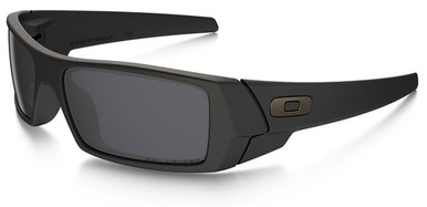oakley cerakote gascan 5pf9  Oakley SI Gascan with Black Frame and Grey Polarized Lens