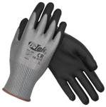 PIP G-Tek Gray PU Grip EN5 Cut Resistant Gloves with HPPE Liner