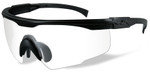 Wiley-X PT-1 Ballistic Safety Glasses with Black Frame and Clear Lens