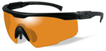 Wiley-X PT-1 Ballistic Safety Glasses with Black Frame and Light Rust Lens