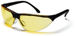 Pyramex Rendezvous Safety Glasses with Black Frame and Amber Lens