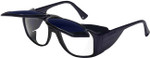 Uvex Horizon Safety Glasses with Cobalt Blue Flip-Up Lens
