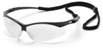 Pyramex PMXtreme Safety Glasses with Black Frame and Clear Anti-Fog Lens