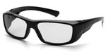 Pyramex Emerge Safety Glasses with Black Frame and Clear Lens