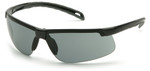 Pyramex Ever-Lite Safety Glasses with Black Frame and Gray Anti-Fog Lenses