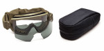 Smith Elite Outside The Wire Military Goggle with Tan-499 Frame and Clear and Gray Lenses