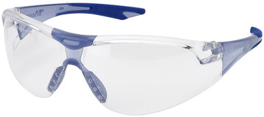 Elvex Avion SlimFit Safety Glasses with Blue Temples and Clear Lens