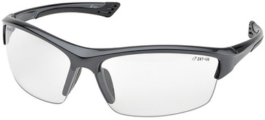 Elvex Sonoma Safety Glasses with Gunmetal Frame and Clear Lens