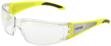 Elvex Reflect-Specs Safety Glasses with Reflect Temples, Clear Lens