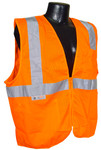 Radians SV2Z-Mesh Class 2 Hi-Viz Orange Safety Vest with Zipper Closure