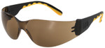 CAT Track Safety Glasses with Black Frame and Brown Lens