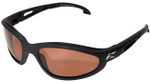 Edge Dakura Polarized Safety Glasses with Black Frame and Copper Lens