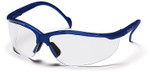 Pyramex Venture 2 Safety Glasses with Metallic Blue Frame and Clear Lens