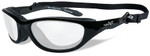 Wiley-X AirRage Safety Glasses with Gloss Black Frame and Clear Lens