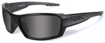 Wiley-X Rebel Black Ops Safety Sunglasses with Matte Black Frame and Smoke Lens