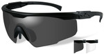 Wiley-X PT-1 Ballistic Safety Glasses Kit with Matte Black Frame and Smoke Grey and Clear Lenses