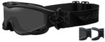 Wiley-X Spear Ballistic Safety Goggle with Matte Black Frame and Smoke Grey and Clear Lenses