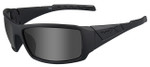 Wiley-X WX Twisted Black Ops Safety Sunglasses with Matte Black Frame and Smoke Grey Lens