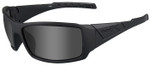 Wiley-X WX Twisted Black Ops Safety Sunglasses with Matte Black Frame and Polarized Smoke Gray Lenses