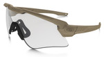 Oakley SI Ballistic M Frame Alpha Sunglasses with Terrain Tan Frame and Clear Lens