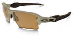 Oakley SI Flak Jacket 2.0 XL with Desert Frame and Bronze Polarized Lens