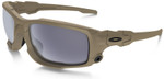 Oakley SI Ballistic Shocktube with Terrain Tan Frame and Grey Lens