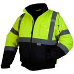 Pyramex Lumen-X RJ32 Class 3 Hi-Viz Lime Safety Jacket with Quilted Liner