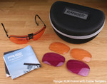 Randolph XLW 3-Lens Clay Kit with HD Light, HD Medium and Dark Purple Lenses with Cable Temples