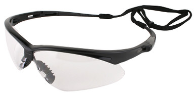 Jackson Nemesis Safety Glasses with Black Frame and Clear Lens