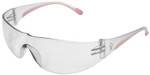 Bouton/PIP Eva Women's Safety Glasses with Pink Temple Trim and Clear Hard Coat Lens