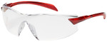 Bouton Radar Safety Glasses with Red Temple and Clear Anti-Fog Lens