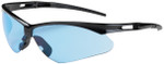Bouton Anser Safety Glasses with Black Frame and Light Blue Lens