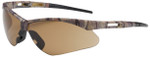 Bouton Anser Safety Glasses with Camouflage Frame and Brown Lens