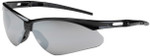 Bouton Anser Safety Glasses with Black Frame and Silver Mirror Lens