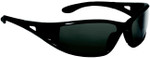 Bolle Lowrider Safety Glasses with Shiny Black Frame and Polarized Smoke Anti-Scratch Lenses