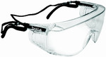 Bolle Override Safety Glasses with Black Temples and Clear Anti-Scratch and Anti-Fog Lens