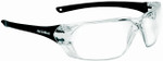 Bolle Prism Safety Glasses with Shiny Black Temples and Clear Anti-Scratch and Anti-Fog Lens