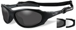 Wiley-X XL-1 Advanced Ballistic Safety Glasses Kit with Matte Black Frame and Grey & Clear Lenses