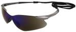 Jackson Nemesis VL Safety Glasses with Blue Mirror Lens