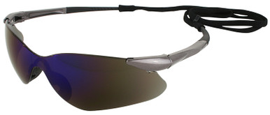 Jackson Nemesis VL Safety Glasses with Blue Mirror Lens