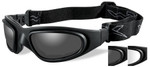 Wiley-X SG-1 Ballistic Glasses/Goggles with Matte Black Frame and Anti-Fog Smoke & Clear Lenses