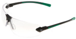 Encon Veratti 429 Safety Glasses with Green Temple Accent and Clear Anti-Fog Lens