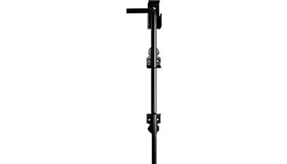 Cane Bolt, Black - 18', Stainless Steel, Powder coated black, Non Lockable