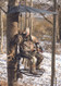 The Sportsman tree stand hunter sitting
