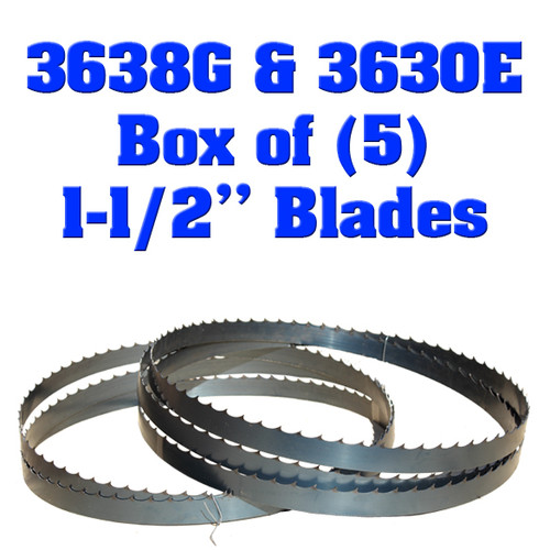 "Box of 5 Blades 1-1/2"" Baker 3638G & 3630E"