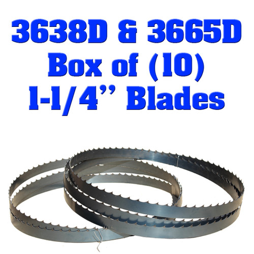 """Box of 10 Blades 1-1/4"""" Baker 3638D & 3665D"""