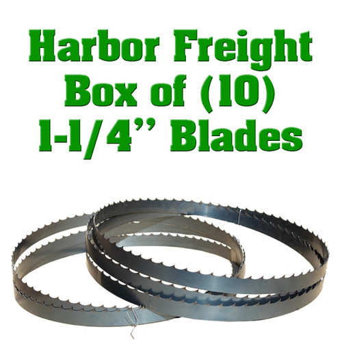 Band saw blades for Harbor Freight sawmill